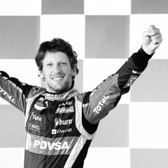 Eventos Mumm - recuerdos del podio de Romain Grosjean